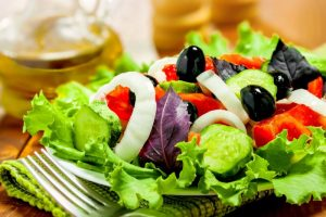 Vegetable salad, healthy food